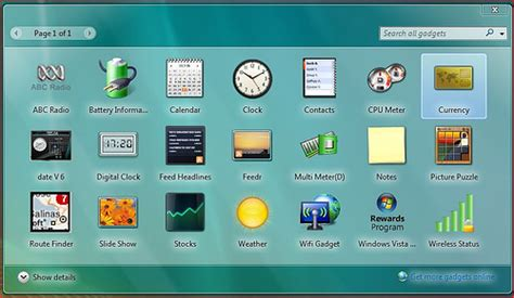 gadgets de bureau windows 7 gratuit gadgets para windows xp