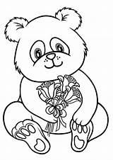 Panda Coloring Tulamama Bear sketch template