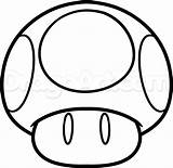 Mario Mushroom Coloring Super Drawing Draw Characters Bros Colouring Pop Templates Tattoo Printable Line Brothers Step Drawings Google Character Para sketch template
