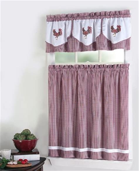 click to buy rooster kitchen curtains rooster 3 piece