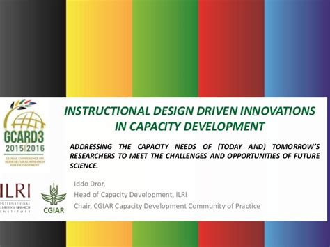 Instructional Design Driven Innovations In Capacity