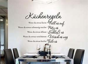 Deko Küche Wand : wandtattoo k chenregeln w1149 wand tattoo k che spruch zitat wand deko aufkleber ebay ~ Whattoseeinmadrid.com Haus und Dekorationen