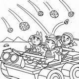 Coloring Meteor Backyardigans Pablo Uniqua Austin Hit Designlooter Tasha Take 27kb 300px Drawings sketch template