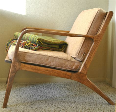 mid century teak lounge chair midcentury