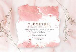 diy geometric watercolor wedding invitation backgrounds With wedding invitation abstract watercolor painting