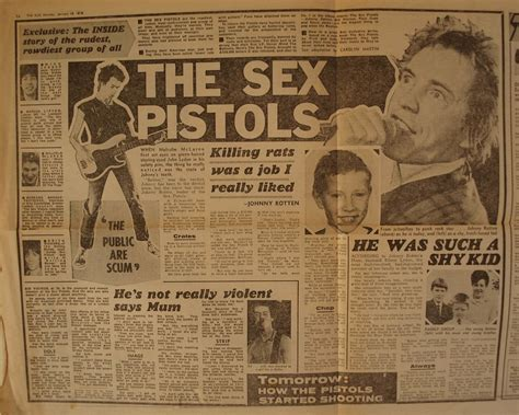 Sex Pistols The Sun Newspaper Article January 1978 Flickr