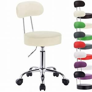 Tabouret De Bureau : 1 chaise de travail tabouret de bureau r glable fauteuil de bureau en cuir f055 ebay ~ Teatrodelosmanantiales.com Idées de Décoration