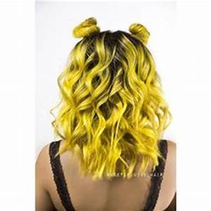 Neon yellow hair and neon green hair color by Rochelle