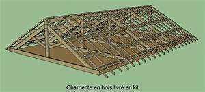 Charpente Traditionnelle Bois En Kit : maison bois en kit 2 pentes ~ Premium-room.com Idées de Décoration