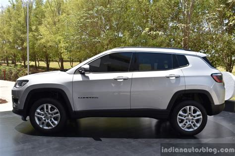 jeep compass side india made jeep compass side unveiled indian autos blog