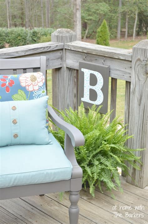 diy monogram flag at home with the barkers
