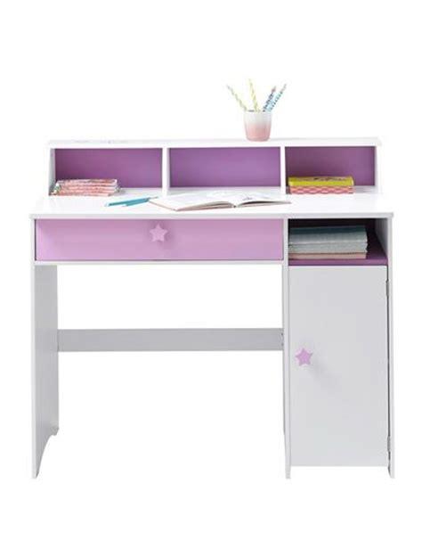 but bureau fille grand bureau fille blanc thème fée blanc violet