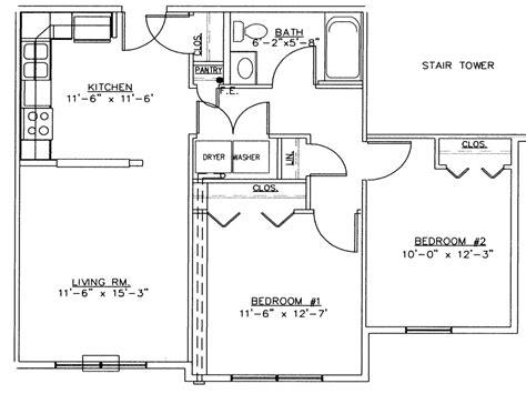 2 bedroom house simple plan 2 bedroom house floor plans