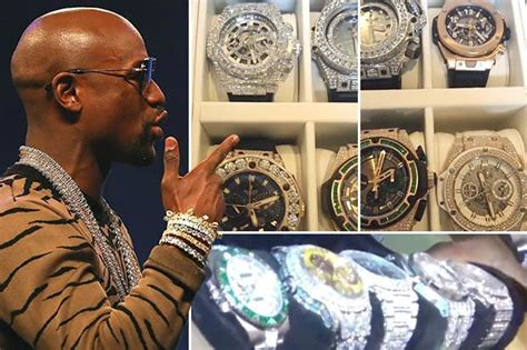 floyd mayweather shows   stunning  collection