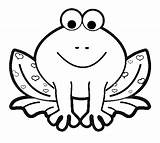 Frog Coloring Pages Frogs Print Cartoon Printables sketch template