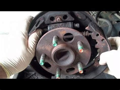 replace drum brake shoes full ericthecarguy