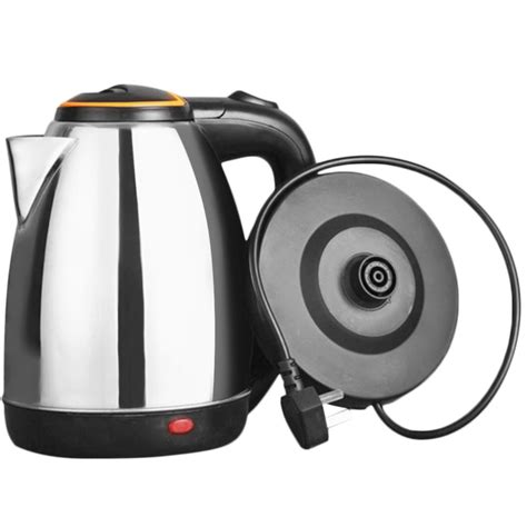 kettle electric water stainless steel heating 2l 1500w kettles underpan calentador agua harga function 1800w jarra efficient automatic protection dry