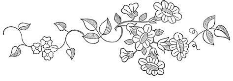 Floral Embroidery Patterns   Pretty!   The Graphics Fairy