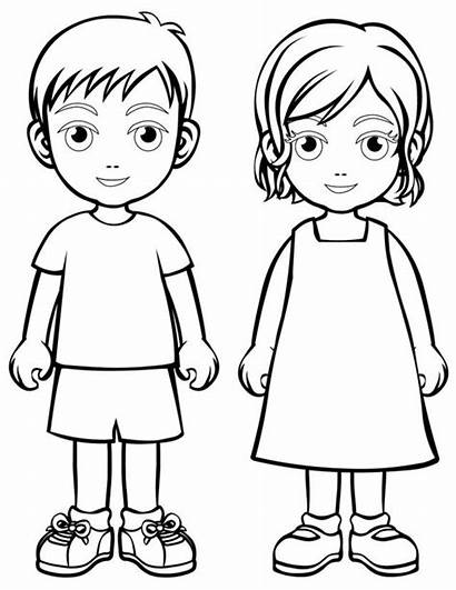Coloring Children Pages Colouring Sheets Cartoon Child