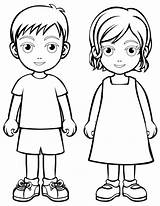 Coloring Children Pages Colouring Sheets Cartoon Child Person Printable Town Templates Paper Boy Body Human Printables Fun sketch template