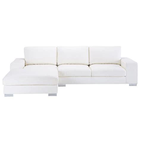 canape cuir angle gauche canapé d 39 angle gauche 5 places en cuir blanc york