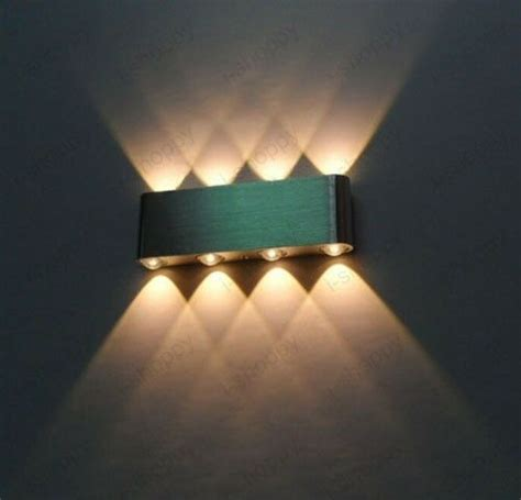 8w dimmable led wall sconce light up down l rectangle
