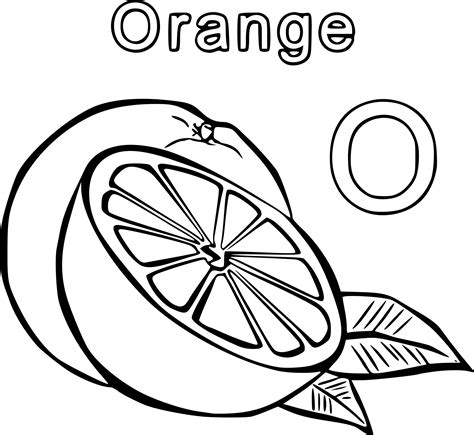 Coloring Oranges by Orange Coloring Page