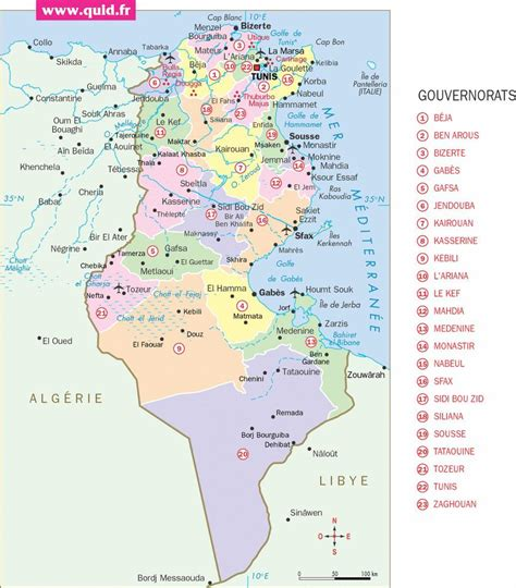 Carte De Tunisie Avec Villes carte de la tunisie plusieurs cartes de la tunisie