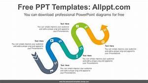 Snake Shape Curve Path Powerpoint Diagram Template
