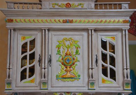 portes meubles de cuisine vaisselier peint meuble relooké