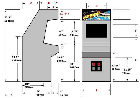 arcade cabinet plans httpvectorlibfreefrplansvect