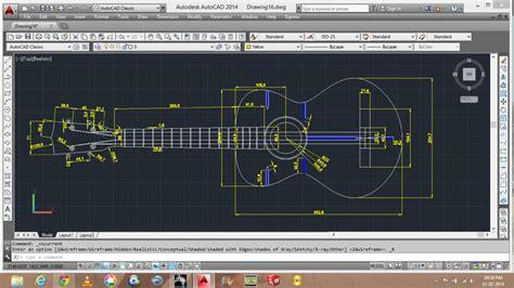 guitar   autocad   cad model grabcad