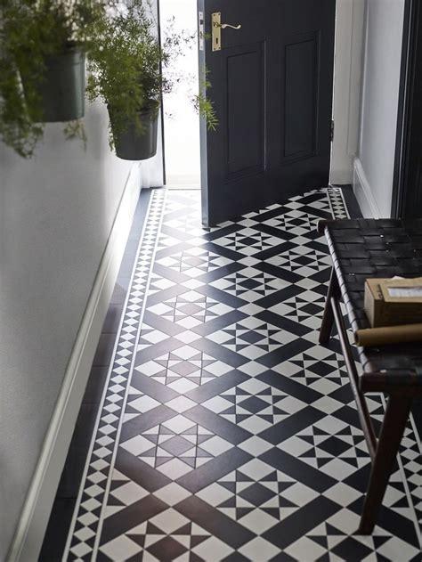 fake   patterned vinyl floor tiles hallway