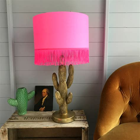 tropical silhouette wallpaper lampshade handmade  neon
