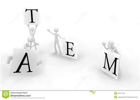 clear division  labor team  stock illustration image
