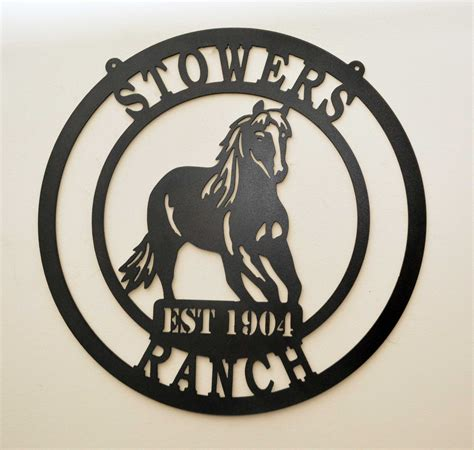 personalized farm horse ranch stables metal sign   horses front door decor