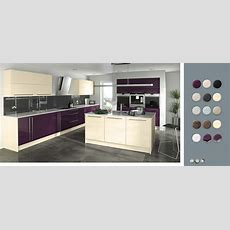 Gloss Made To Measure  Aubergine & Jasmine Kitchens  On