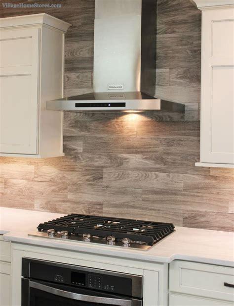 wood kitchen backsplash porcelain floor tile with a gray woodgrain pattern is