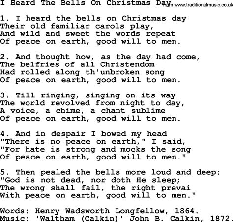 christmas powerpoints song i heard the bells on