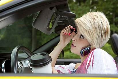 Driving Distracted Common While Woman Distractions Makeup