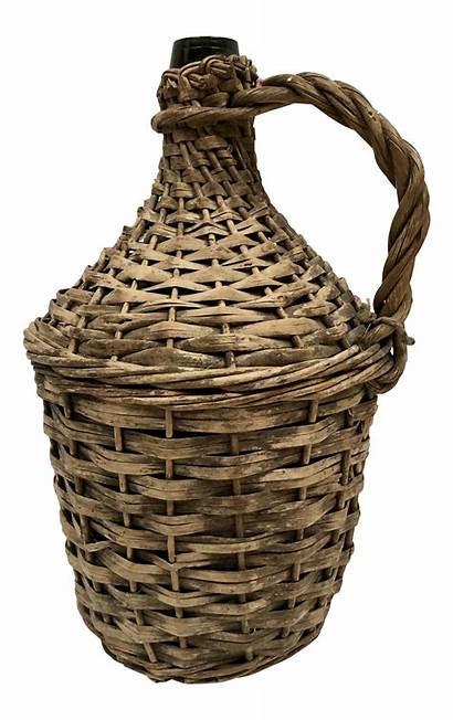 Wicker Wrapped Jug Demijohn Chairish Neck Tea