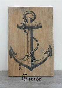 Deco Murale Vintage : d coration murale encre marine vintage sur planche de ~ Melissatoandfro.com Idées de Décoration