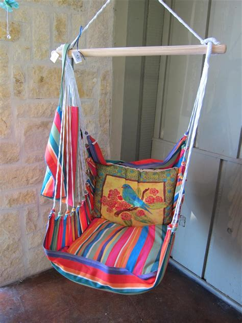 adding hanging swing chair for more comfortable room with