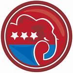 Republican Elephant Party Clip Clipart Gop Donkey