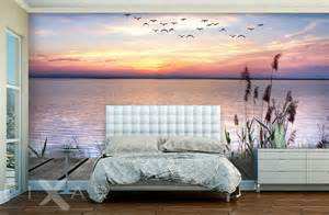 schlafzimmer tapeten bilder romatischer sonnenuntergang fototapete für schlafzimmer schlafzimmer tapeten fototapeten