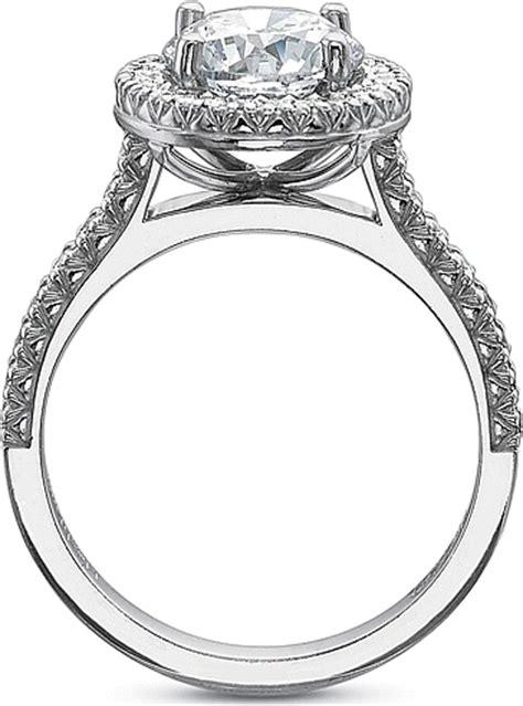 precision set flush fit prong set diamond engagement ring