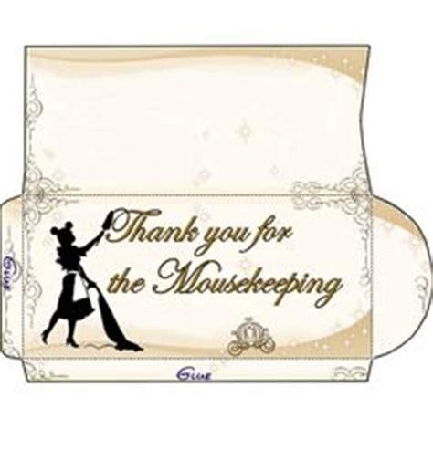 mousekeeping envelopes images disney world trip