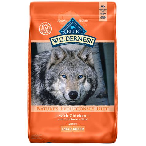 blue buffalo large breed wilderness chicken adult dog food