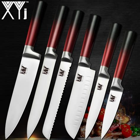 knife knives kitchen chef quality sharp steel ultra stainless blade sets cutlery cooking xyj tools