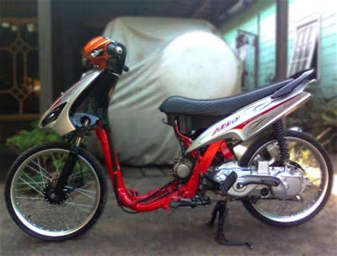 Modif Mio J Jadi Fino by Modif Pelek 17 Yamaha Mio Aliran Thai Look Style Oto Trendz